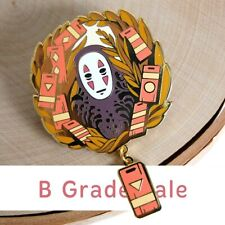 B Grade Sale - No Face Spirited Away Enamel Pin 2x2 inch with .75 inch pendant