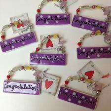 Dept. 56 Sandra Magsamen Ceramic Congradulations Mini Tags Lot Of 7 New