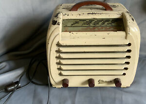 Vintage marconiPhone Art Deco Bakelite radio  Untested