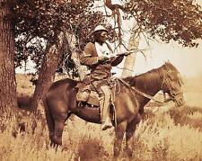SIOUX INDIAN SCOUT BLOODY KNIFE VINTAGE PHOTO NATIVE AMERICAN OLD WEST  #21110
