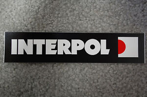 Interpol Sticker (S422)