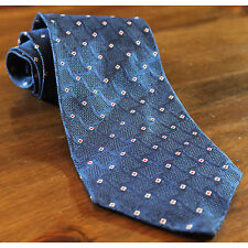 Stackpole Moore Tryon England Import 100% Men Silk Geometric Tie Blue Red White
