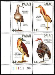 Palau 187-190a Bl/4, MNH. Ground-dwelling birds, 1988