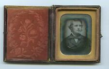 More details for young man & large bow tie - c1850s 1/9th plate daguerreotype