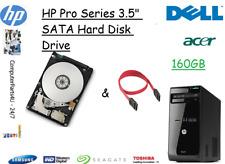 """160 GB HP Pro 3500 3.5"""" SATA disco duro (HDD) de reemplazo/UPGRADE"""