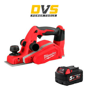 Milwaukee M18BP-0 18V Li-ion 82mm Cordless Planer 1 x 5Ah M18B5 Battery