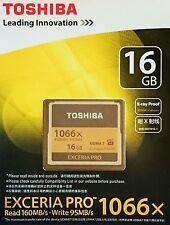 Toshiba Exceria Pro 16GB CompactFlash Speicherkarte 16GB CF Karte(1066x) NEU&OVP