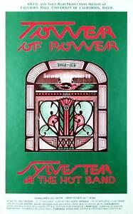 Tower of Power Poster Original 1983 Sylvester& Hot Band Freeborn Hall UC Davis