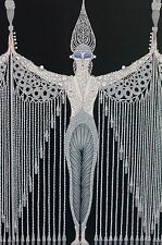 Erte 1987 Les BIJOUX de PERLE Pearl Dress Fashion Wall Art Deco Matted Print