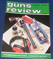 GUNS REVIEW MAGAZINE OCTOBER 1983 - SMITH & WESSON M29 44 MAGNUM SILHOUETTE REV