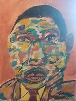 MARTIN LUTHER KING Pop art painting  very colorful