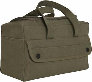 Canvas Tool Bag U Shaped Zipper Easy Open Carry Tote Handles Mechanics Military