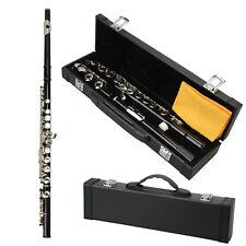 New Black 16 hole Closed C key Professional School Student Band Flute