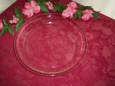 Vintage FIRE KING 10 inch Clear Pie Plate Fall Holiday Pumpkin Pies