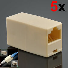 5x RJ45 Cat5e Cat6 Cat7 Ethernet Network Cable Joiner Coupler Connector Adapter