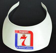 Vintage original Seagram's 7 Whiskey visor hat cap Wiskey advertising logo poker