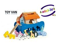 NOAH SHAPE SHORTER ARK LE TOY VAN TV212 L ARCHE DE NOE WOOD NEW ARCA ANIMAL