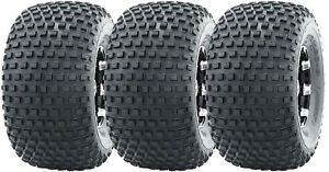 3 New WANDA ATV Tires 22X11-8 22x11x8 4PR for 3 wheelers 10032 Warranty Fast