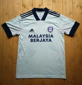 Authentic adidas Cardiff City Away Shirt. Medium.