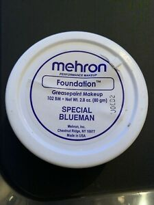Mehron Foundation Greasepaint Special Blueman 2.8oz  NEW!  FREE SHIPPING!