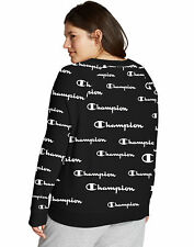 Champion Women Plus Size Sweatshirt Heritage French Terry Print Crew Logo Script