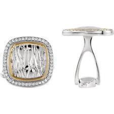 diamante con elefante Gemelli in Argento Sterling & 14k oro giallo (1/2ctw)
