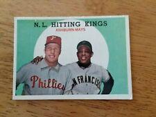 New listing 1959 Topps # 317 RICHIE ASHBURN WILLIE MAYS NL HITTING KINGS EXMT Set Break