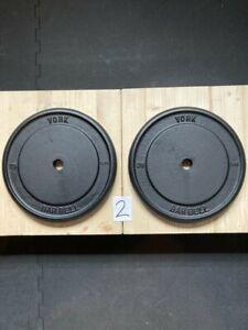 "Pair of Vintage York Standard (1"") 25lbs Weight Plates."