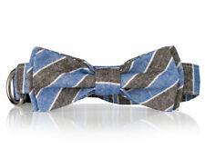 Striped Bow Tie Dog Collar-  Stylish Custom Dog Collar (Bow Tie Collar)