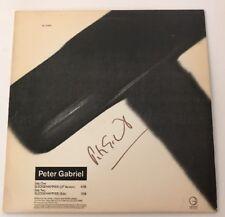 Peter Gabriel Signed Sledgehammer Single LP Vinyl JSA # Q64039 Autograph