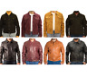 Men's leather Casual Fitted Denim Western Trucker Star Button Jeans Style Jacket
