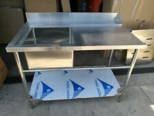 Brand New Stainless Steel single sink Dishwasher Inlet with Bench