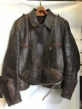 RARE ANTIQUE WW2 WWII GERMAN AVIATOR LUFTWAFFE BIKER LEATHER JACKET GERMANY