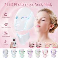 7 Colors LED Light Photon Face Mask + Neck Rejuvenation Skin Facial   z