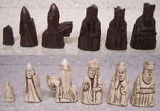 """Chess Set Pieces Medieval Isle of Lewis Historical Europe NEW 3 3/8"""" kings"""