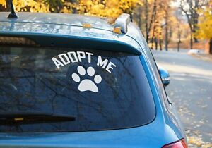 adopt me dog paw for dog lovers car Sticker 9 COLOR