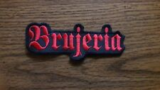 BRUJERIA,SEW ON RED EMBROIDERED PATCH