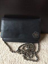 100% Genuine Chanel Balck Camellia Wallet On Chain Woc Calf Skin Gold Hardware