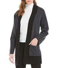 NWT Eileen Fisher Merino Wool Cardigan in Black/Gray- Size S  #S1597