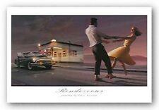 Chris Consani Brooklyn Nights crop James Dean Marilyn Monroe Print Poster 12x36
