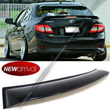 For 08-13 Toyota Corolla JDM Black Tinted Rear Window Roof Vent Visor Spoiler