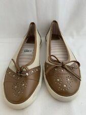 Nwt Joan & David Circa Kid Tennis Shoes Tan Flax 8.5 Narrow