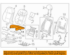 Cadillac GM OEM 2013 ATS Driver Seat-Cushion Cover 22968581