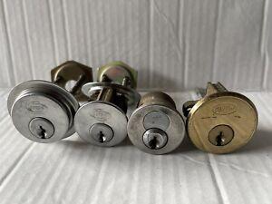 4 Vintage Corbin Rim Cylinders Locks (No Keys) Locksmith