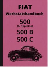 FIAT 500 A B C TOPOLINO istruzioni di riparazione officina manuale Repair Manual camminò.