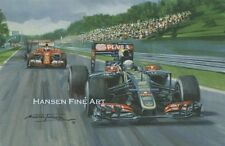 Romain Grosjean 2015 Lotus Formula 1 One F1 Motor Racing Car Birthday Card