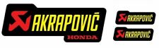 3 Adhésifs Stickers Akrapovic Ho Racing Résistant Al Chaleur Jaune