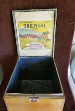 "VTG. Imported Japanese Tea Box;Wood, Paper, Metal Lined;11"" X 11 1/4""X  13 3/4"""