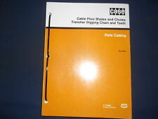 CASE SOD CUTTER PLOW BLADES TRENCHER DIGGING CHAIN PARTS MANUAL BOOK CATALOG