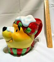 Large Pooh Winter head teapot. Disney Collection by Paul Cardew. 2005